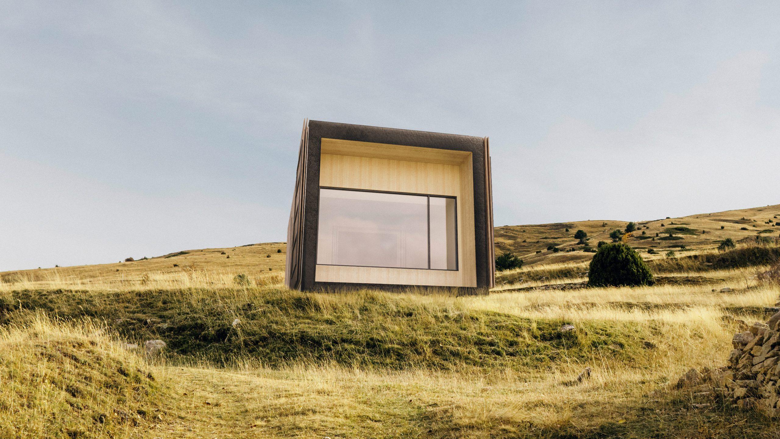 liten cabaña sosteniblle para turismo rural
